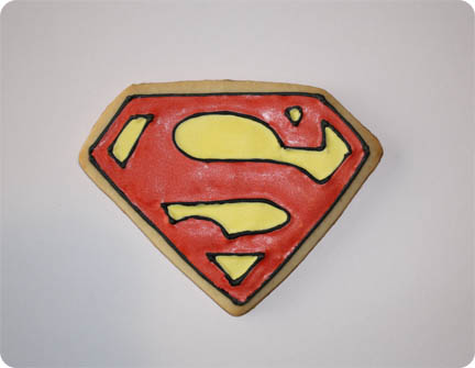 How to Make Superman Cookies by Hand
