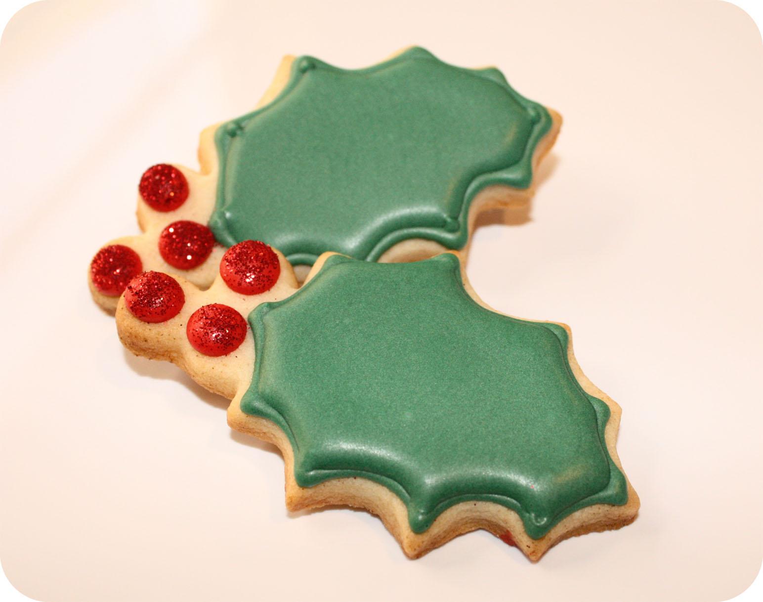 Holly Leaf Cookies Super Cute Sweets