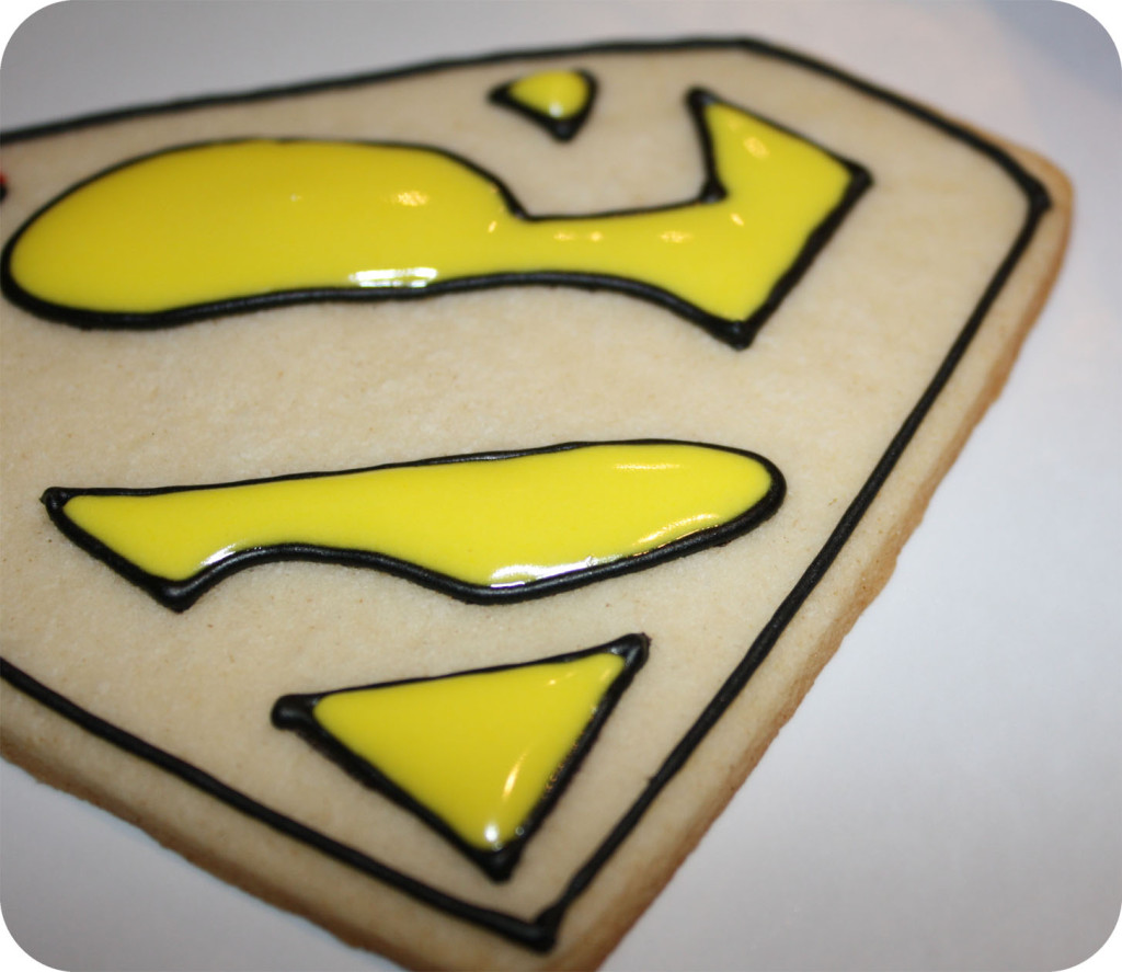 Super Man Cookies by Hand