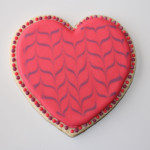 Simple Marbled Heart Valentines Cookie