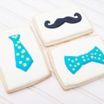 Father's Day Bow Tie, Tie and Mustache Cookies