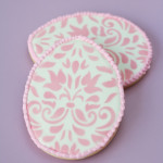 Damask Easter Egg Cookies