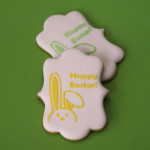 Stenciled Easter Cookies with Royal Icing